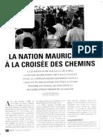La nation mauricienne à la croisée des chemins