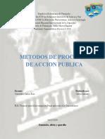 Metodos de proceder en accion publica