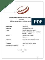 INSTRUMENTOS PÚBLICOS EXTRA PROTOCOLARES