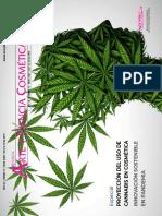 Proyección del uso de cannabis en cosmética