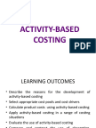 4. Activity-based Costing