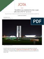 O federalismo brasileiro no contexto de crise_ o que muda com o PLP nº 39_2020 - JOTA Info