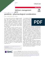 COVID-19 ICU delirium management carta