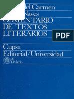 BOBES NAVES Maria del Carmen - Comentario de textos literarios Metodo semiologico