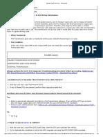 DTC chart Diagnostic