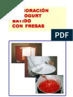 Elaboracion Yogurt Batido con Fresas