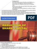 Lecture 17 Reduction of share capital