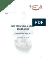 02. ISO 17025 - Requisiti Gestionali