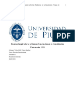 Fuentes Inspiradoras y Nuevas Tendencias en la Constitución Peruana de 1993