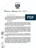 20200306 - RM 055-2020-TR - Guia para la prevencion ante el CORONAVIRUS en el Ambito Laboral