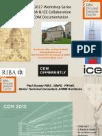 14.20022018 Paul Bussey-RIBA CDM PD Documentation  -Universities Short couse (171107)v1