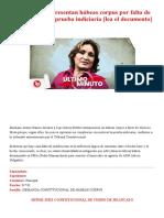 Abencia Meza_ Presentan hábeas corpus por falta de motivación de la prueba indiciaria [lea el documento]