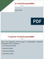Block 4 The Concept of CSR