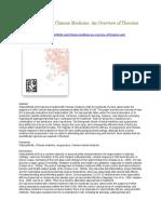 Osteoarthritis and Chinese Medicine