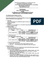 Pengumuman Ujian Kompre S2 dan S3 2020
