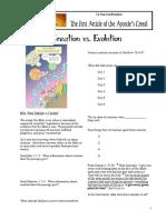evolution vs creation worksheet