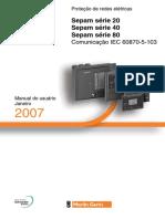Manual do Usuário Sepam 20,40,80 (2007) Comunicação IEC 60870-5-103