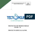 IT_36 Protocolo de Bioseguridad Covid-19 Proyecto especial SATOR. EN REVISION