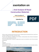 Study And Analysis Of Road Construction Materials