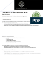 AFM Exam Structure - August 2018