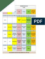 Cronograma de Charlas HSEQ julio 2020