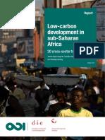 Low Carbon Development SSA