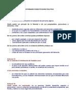CUESTIONARIO CONSTITUCION POLITICA