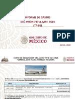 Sedena Informe Gastos Avion Presidencial, 27jul20
