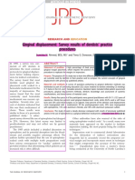 Gingival displacement- Survey results of dentists practice procedures