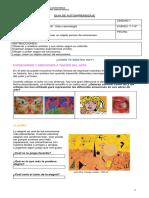 Guía de trabajo integrada de Artes y Tecnología para 7° y 8° Básico