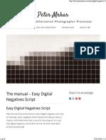 Easy Digital Negatives _ Peter Mrhar