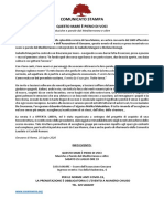 COMUNICATO STAMPA 25 LUGLIO 2020 CASA MAMRE DEF