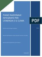 PIANO NAZIONALE INTEGRATO PER L'ENERGIA E IL CLIMA 2019