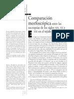 Comparación morfocospica