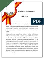 Circular Sede Del Fundador 26-07-2020