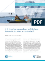 Polar Perspectives No. 1 |  Is it time for a paradigm shift in how Antarctic tourism is controlled?
