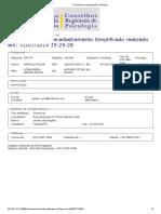 Formulário de atualização Cadastral CRP Marcelo