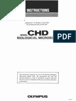 Olympus CHD - User manual