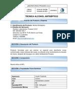 FTLP-047 ALCOHOL ANTISEPTICO