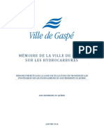 Mmoire ptrole - Ville de Gasp