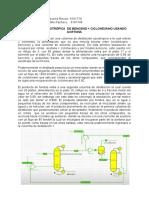 DESTILACION AZEOTROPICA (benceno+ciclohexano)