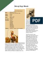 History of shivaji maharaj