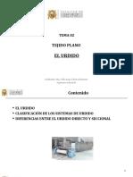 TEJIDO PLANO - EL URDIDO 2020