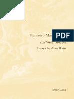 Manzini, Francesco - Lectures Croisees
