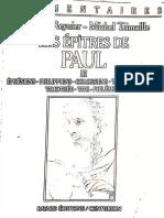 Chantal Reynier, Les Epitres de Paul 3