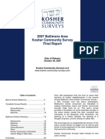 2007 Baltimore Area Kosher Community Survey - Final Survey Report