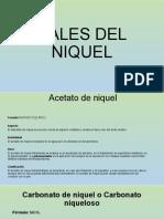 EXPOSICION SALES DEL NIQUEL