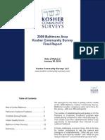 2009 Baltimore Kosher Community Survey - Final Survey Report