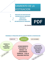 PLANTEAMIENTO DE LA INVESTIGACION