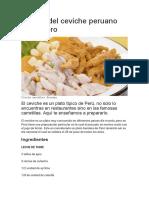 Receta del ceviche peruano carretillero